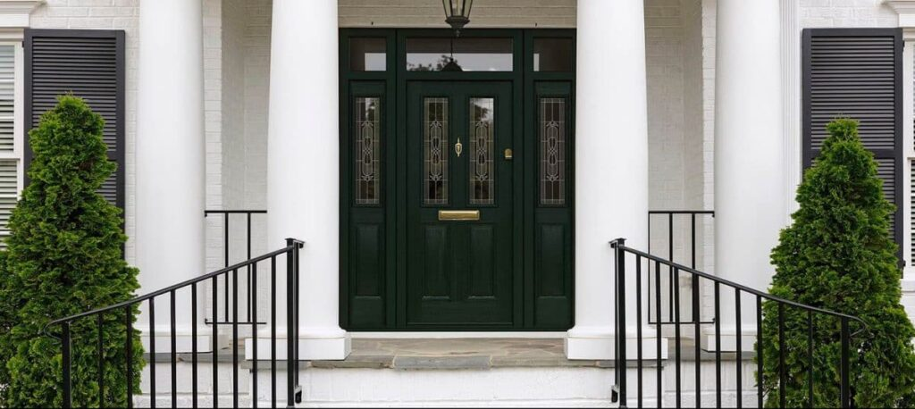 Endurance composite doors in a large house