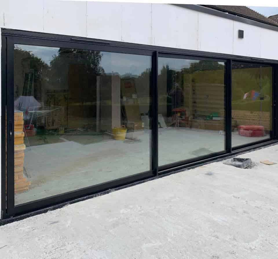 Visoglide aluminium sliding doors in Hartfiield